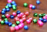 Met. Coloured Tungsten Beads 5.7mm Blue